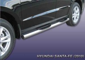 HYUNDAI SANTA-FE (2010)-Пороги d76 с проступями